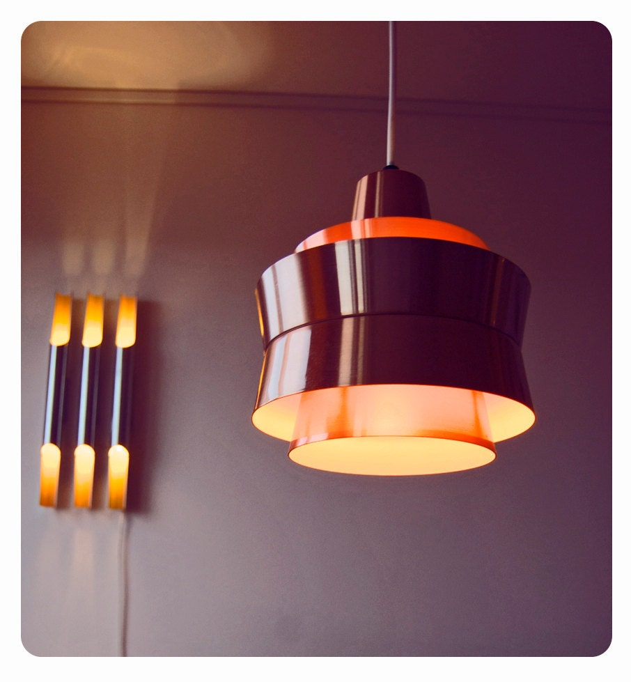 Danish modern hanging lamp eames era 1960s by for Eames lampe