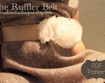 The Ruffler Belt, PDF Sewing Pattern, Newborn to Girls to Ladies, Instant Download Tutorial