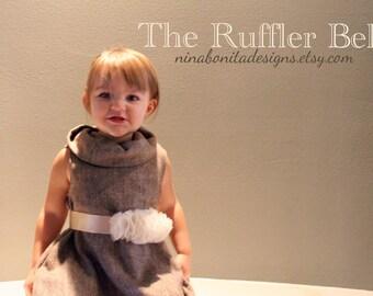 The Ruffler Belt, PDF Pattern, Newborn-Ladies