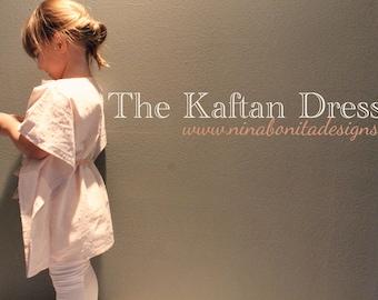 The Kaftan Dress, PDF Sewing Pattern, Sizes Newborn to Girls 14, Instant Download Tutorial
