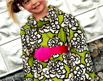 The Posh Cowl Dress, PDF Sewing Pattern, Sizes Newborn to Toddler to Girls 14, Instant Download Tutorial