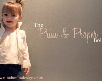 The Prim and Proper Bolero, PDF Sewing Pattern, Sizes Newborn to Toddlers to Girls 14, Easy Instant Download Tutorial for Beginners