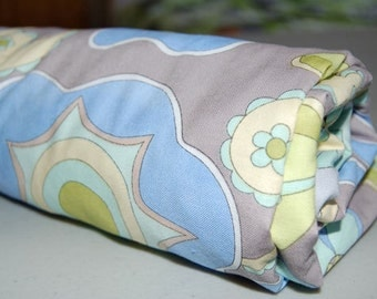 Baby Blanket - Toddler Blanket for baby girl - Snow Flowers Blue & Grey