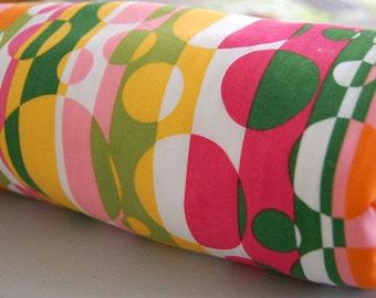 Baby Blanket - Toddler Blanket - Orange Green Bubbles for baby boy or baby girl