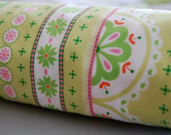 Baby Blanket - Toddler Blanket - Blanket Green Sweet Stripe - green baby blanket