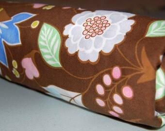 Baby Blanket - Toddler Blanket - Blanket Floral Brown & Pink - brown baby blanket