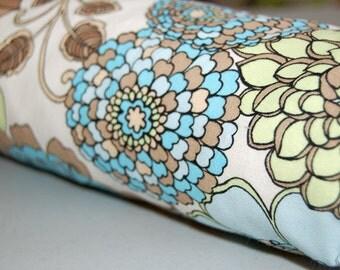 Baby Blanket - Toddler Blanket - Latte Floral blanket for baby - floral baby blanket