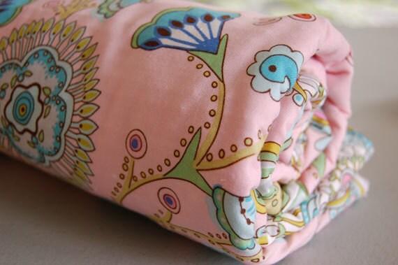 Baby Blanket - Toddler Blanket - Pink Leanika for Baby Girl - pink baby blanket