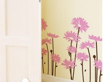 Mums flower vinyl wall decals
