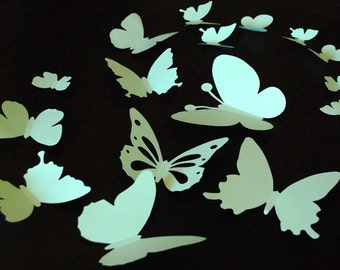 20 pieces 3D paper butterfly sticker, wall sticker, room decoration, baby nursery, wedding decoration in light green color