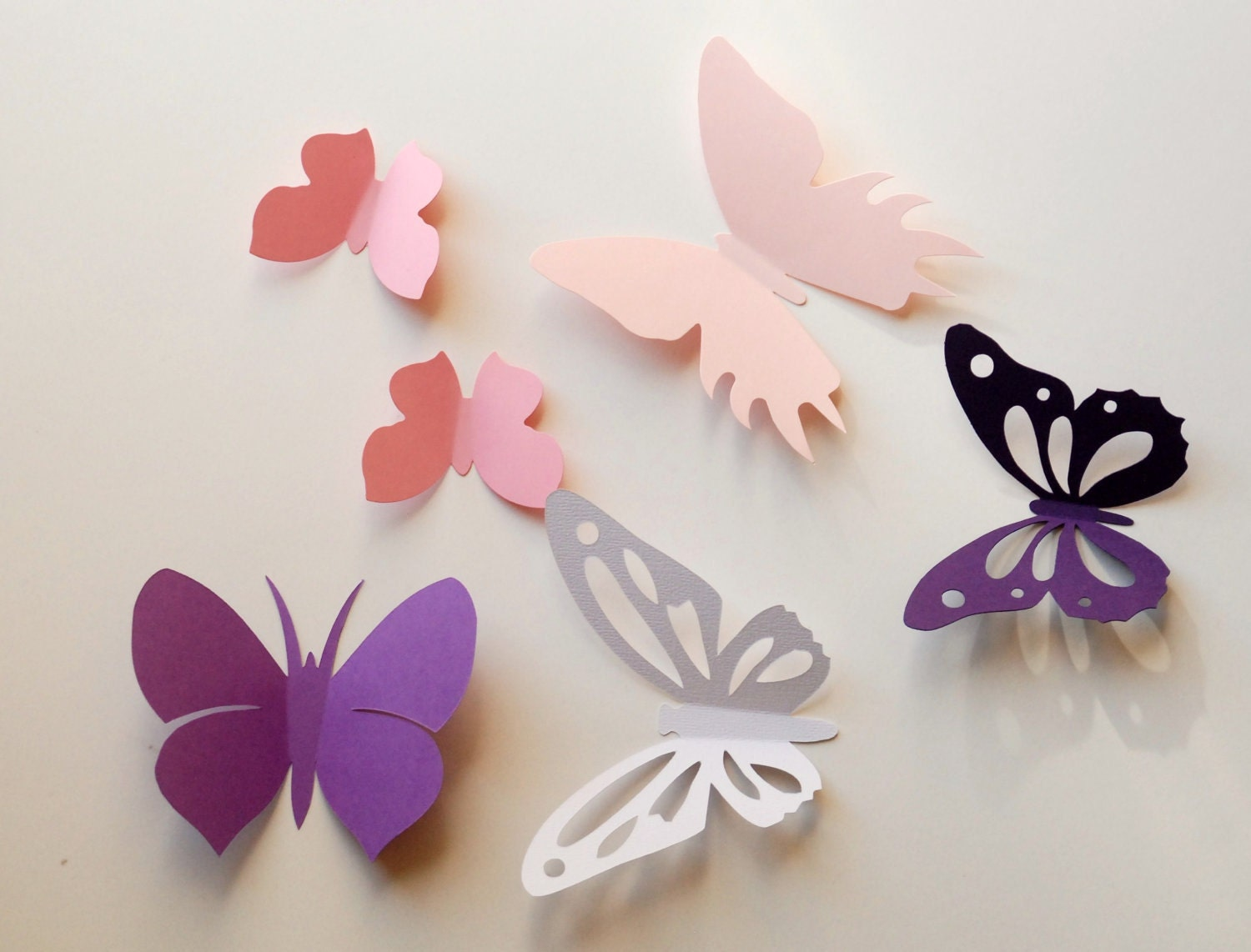 3d paper butterfly wall sticker room decoration baby for 3d wall butterfly decoration