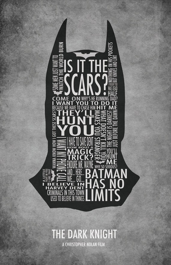 THE DARK KNIGHT Typography