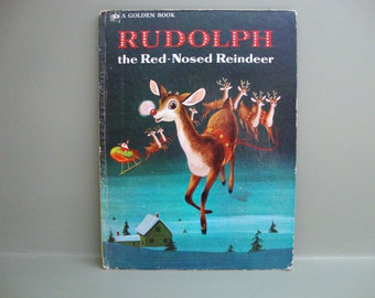 Rudolph The Red Nosed Reindeer Large Golden Book 1972