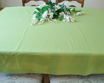 Vintage Kitchen Tablecloth Green Tablecloth French Country Table Linens