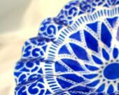 Pedestaled Sydenstricker Cobalt Blue Berry Bowl