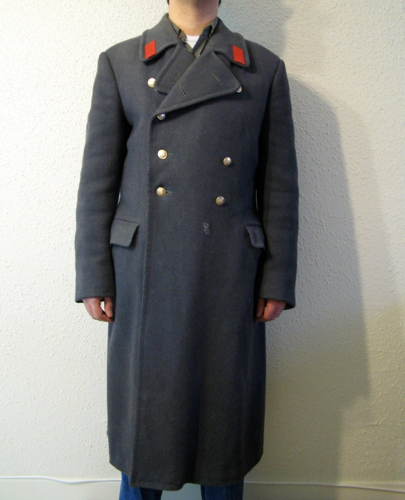 Soviet Russian Greatcoat Wool Overcoat USSR