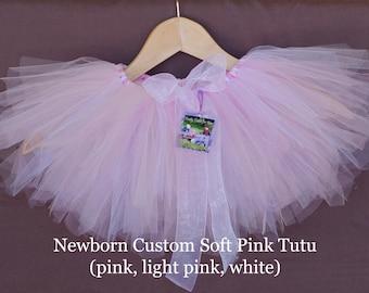 Custom Soft Pink Tutu- pink, light pink, white