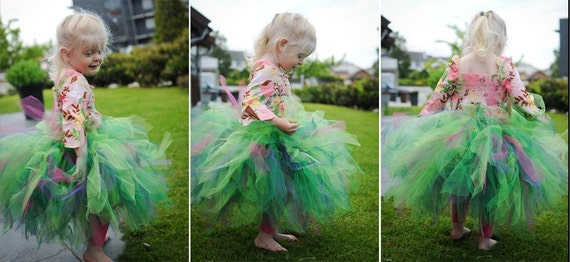 Extra Full Whimsical Lillian Tutu- hunter, emerald, apple, fuchsia, purple