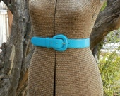 Turquoise leather belt