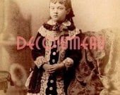 Digital Download of a Little French Girl Circa 1880's