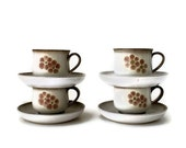 Denby Gypsy Stoneware Cups and Saucers, set of four