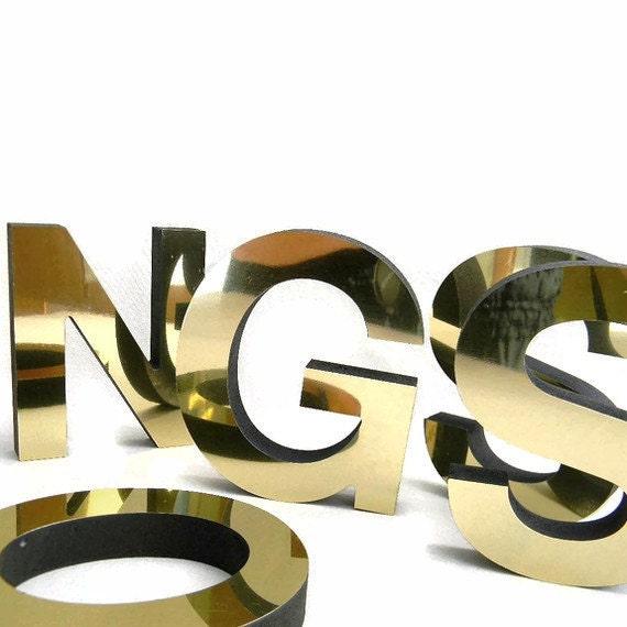 metallic gold  letters, 14 foam core letters