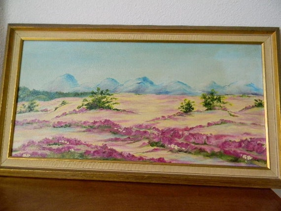 landscape oil painting - high desert scene