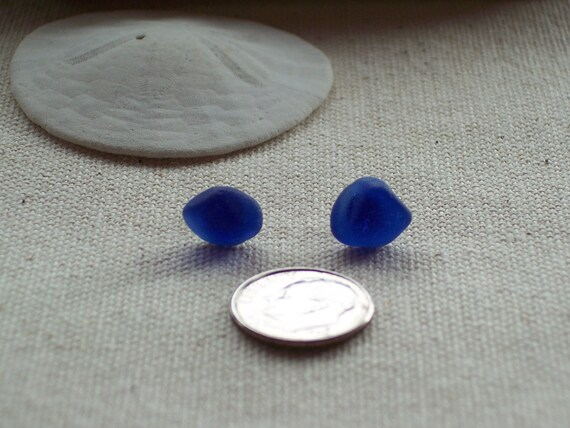 Cobalt Blue Sea Glass Posts