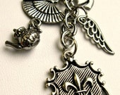 Accessories Silver Key Chain - Victorian-inspired 5 charm key chain - Charmed Life