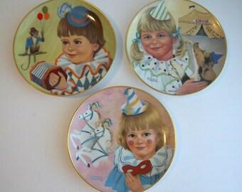 Vintage Kaiser Porcelain Collector Plates Little Clowns Collection