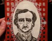 Edgar Allen Poe - Original Painting - Poet Portrait - Illustration