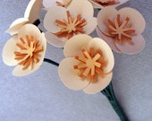 Orange paper flower bouquet for birthday gift, party, centerpiece, wedding, bride, bridesmaid