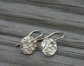 Silver Round Swirl Earrings