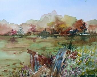 No Name Maine Original Landscape Painting