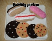 Cakes and cookies knitting pattern UK seller