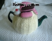 Tea cosy cozy knitting pattern with cakes