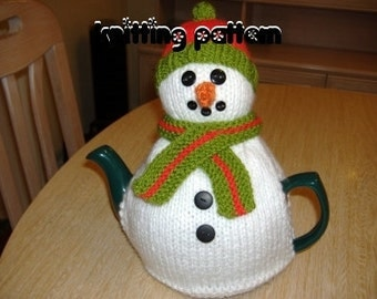 Snowman tea cosy knitting pattern. UK seller