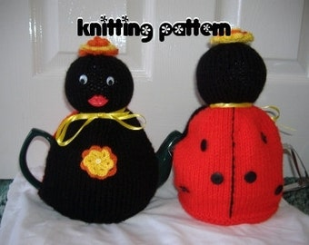 Ladybird tea cosy  knitting pattern. UK seller