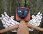 Winged Cat Doll