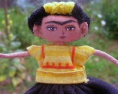 Frida Kalho mini Art Doll