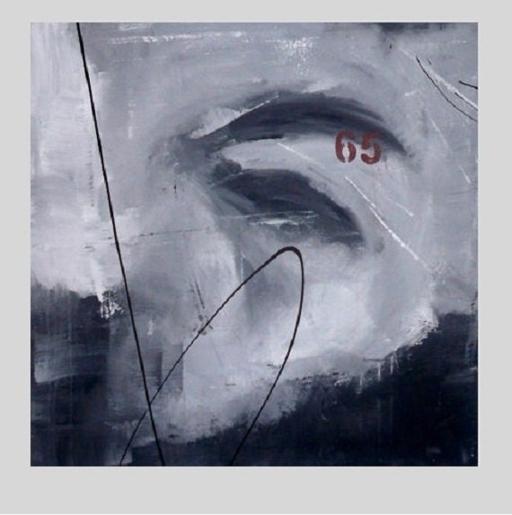 Reserved For CorbanCreative Abstract Modern Art. Black, Grey, White, Red Contemporary Abstract Painting. Gallery Painting