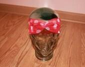 Red and White Polka Dot Sheer Turban Headband