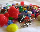 Assorted colorful charm and bead lot