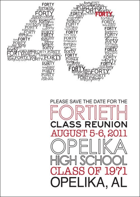 Modern class reunion invitation for Publisher save the date templates