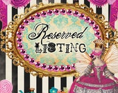 Reserved for Jennifer, Mad Hatter Inspired dress payments