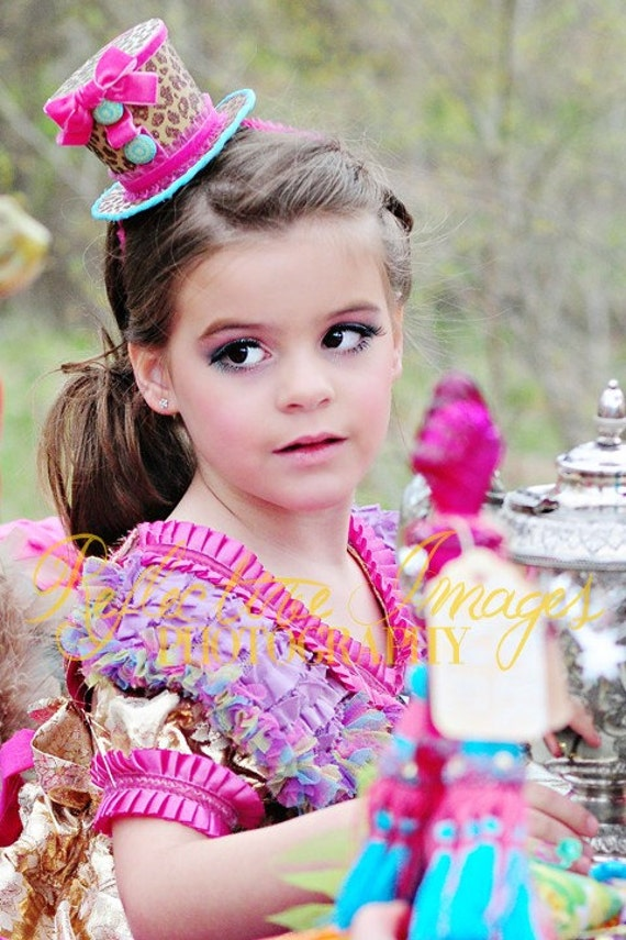 Featured in Child Style Magazine, Leopard Top Hat, Headband, Mad Hatter Tea Party, Photo Prop