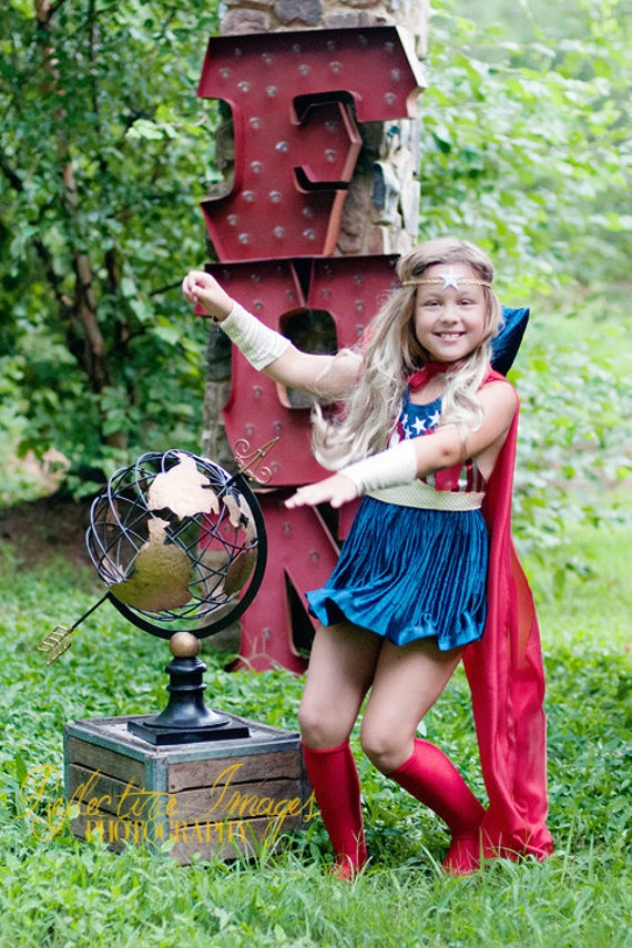 FOR JLICON ONLY, Featured in the October issue of Parenting Magazine, Captain America Inspired Girl's Costume, Super Hero Costume