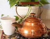 Vintage Copper Tea Pot / Tea Kettle