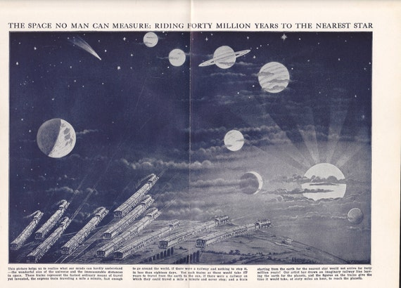 The Space No Man Can Measure:Riding Forty Million Years to the Nearest Star (1928)