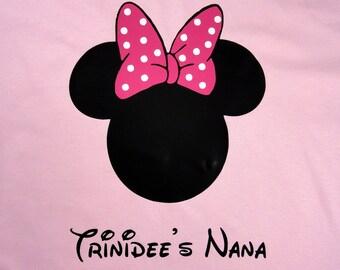 Minnie mouse women custom shirt